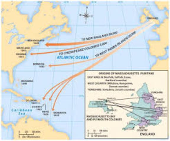 Puritan migration to Massachusetts