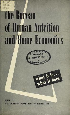 The USDA Bureau of Home Economics becomes the Bureau of Human Nutrition and Home Economics reflecting its more intense focus on nutrition.