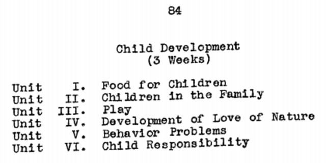 Child care is recognized as a part of the home economics curriculum.