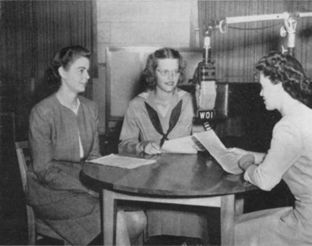 The WOI Homemaker's Half-hour radio show begins broadcasting with Margaret Haggert at the microphone.