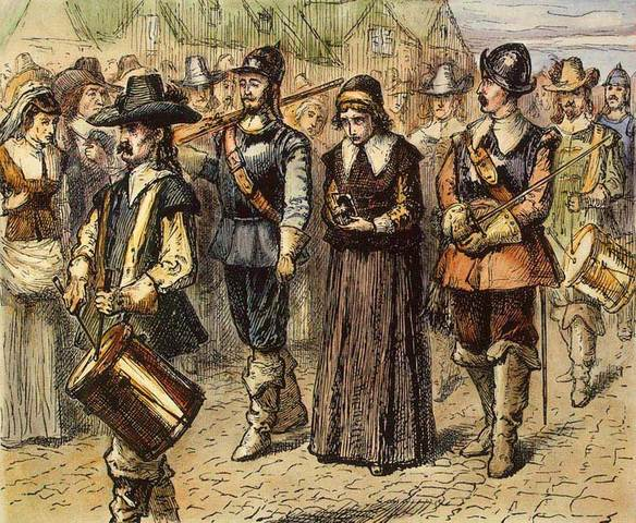 Anne Hutchinson convicted of heresy