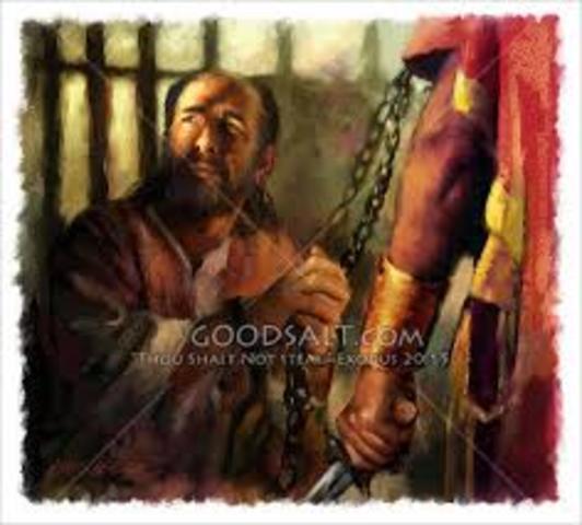Apostle Paul imprisoned in Rome