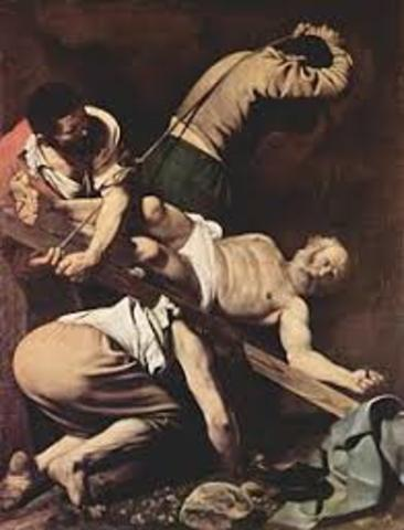 martyrdom of tyhe apostle peter on vatican hill