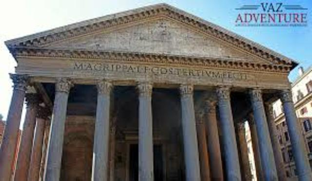 The Pantheon is the first pagan temple in Rome to be Christianized