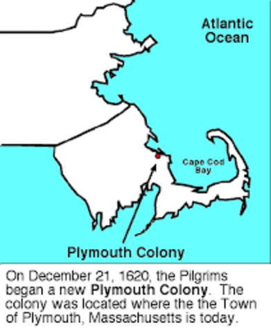 Plymouth founded by English Pilgrims