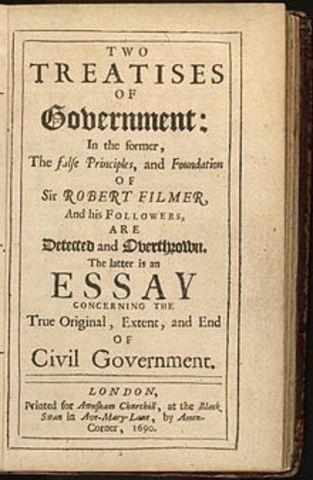 John Locke wrote Second Treatises on Government