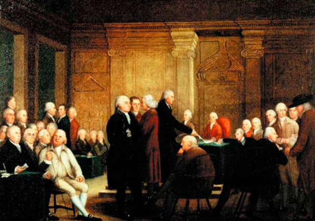 Continental Congress adopts Olive Branch Petition