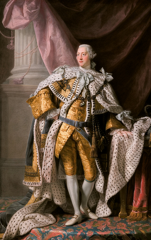 King George proclaims colonies in rebellion