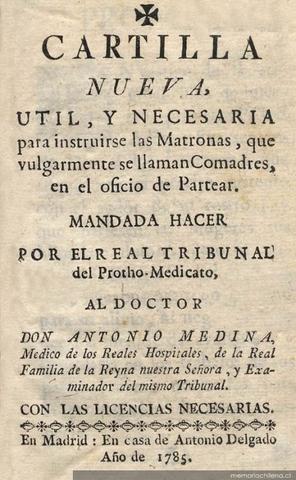 Creación de la cartilla nueva por Dr Don Antonio Medina