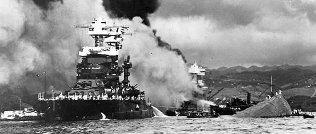 Attaque de Pearl Harbor par les japonais le 7 décembre 1941