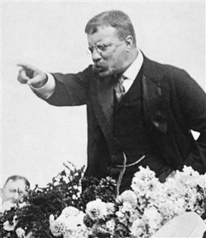 Theodore Roosevelt Leaves US