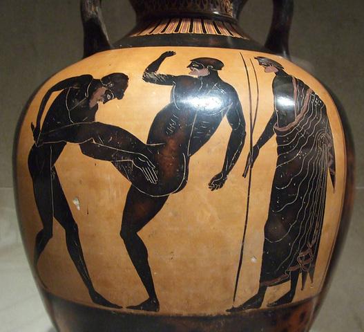 The Kleophrades terracotta Panathenaic