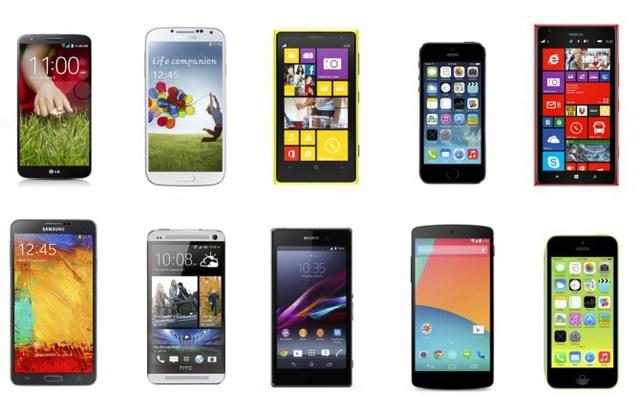 teléfonos en el año 2013