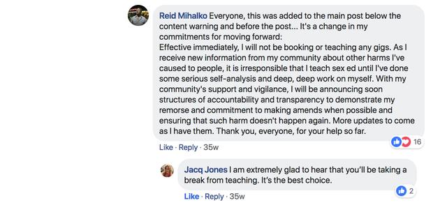 Reid Steps Down From Teaching