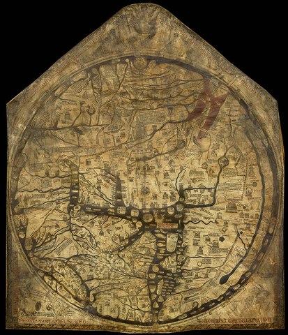 Hereford Weltkarte