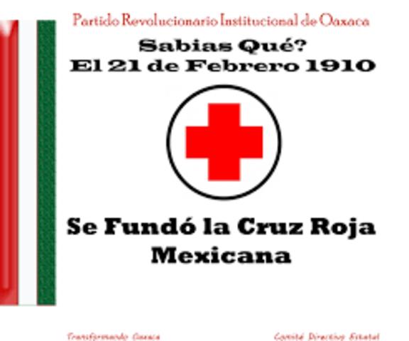 1910 fundación oficial de la cruz roja mexicana-