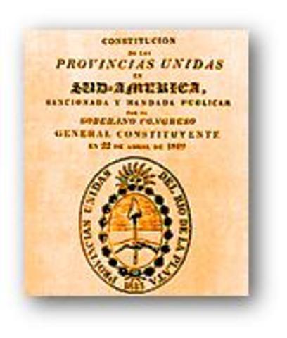 Primera constitucion Argentina (unitaria)