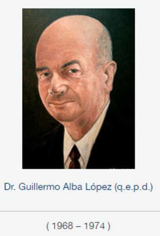 Rector Dr. Guillermo Alba López, fsc de 1968 a 1974