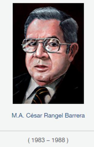 Rector Mtro. César Rangel Barrera, fsc de 1983 a 1988