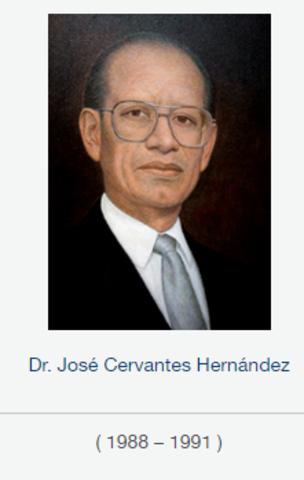 Rector Dr. José Cervantes Hernández, fsc de 1988 a 1991