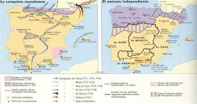 716 Fin de la conquista de Al-Ándalus.