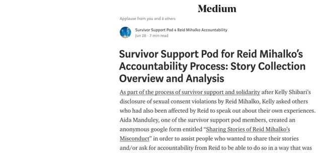 Survivor Support Pod Publishes 2nd Post