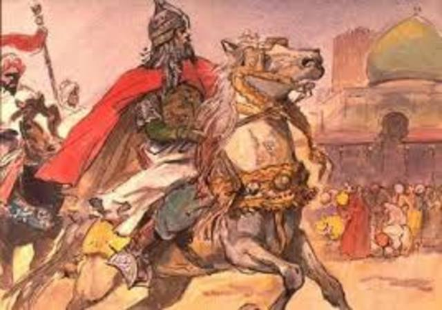 The Arab conquering of Egypt