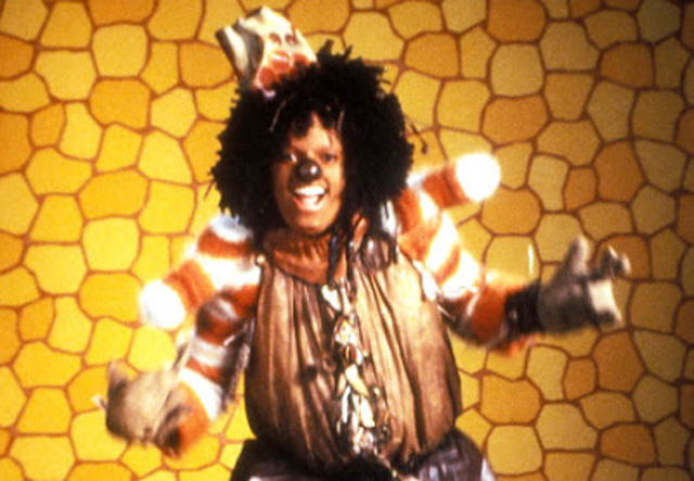 Jackson stars as the Scarecrow in the movie, The Wiz