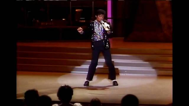 Jackson participates in the live Motown 25 special