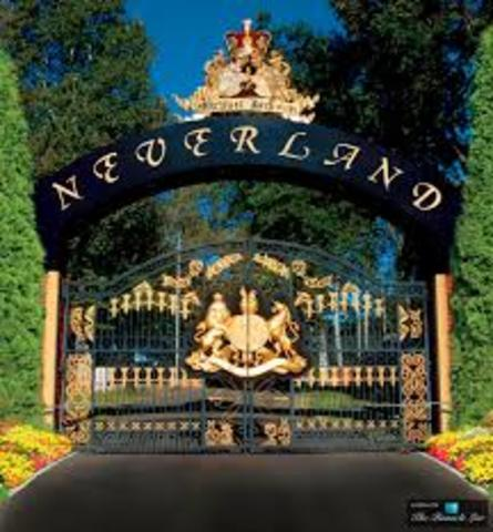 Jackson purchases the land to build Neverland Ranch