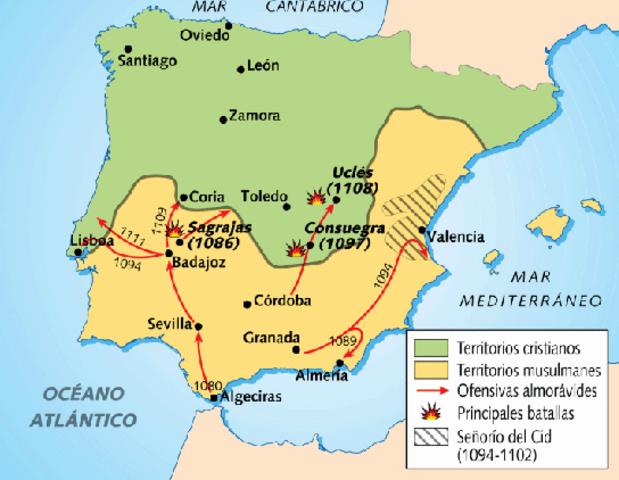 1086 Invasión almorávides.