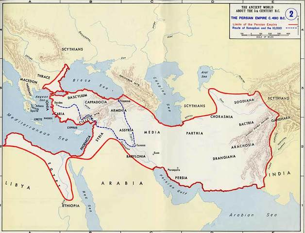Egypte wordt veroverd door de Perzen
