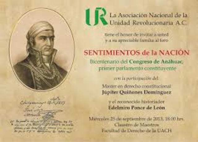 Sentimientos de la Nación de Morelos