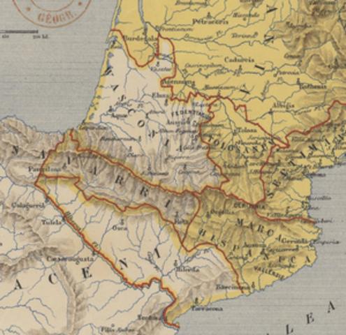 Los carolingios establecen la Marca Hispánica.
