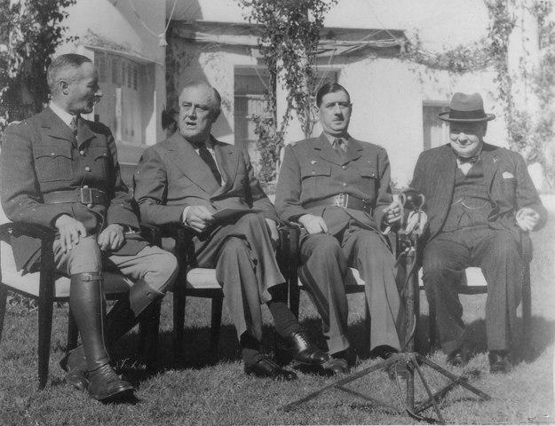 La conférence de Casablanca le 14 janvier 1943