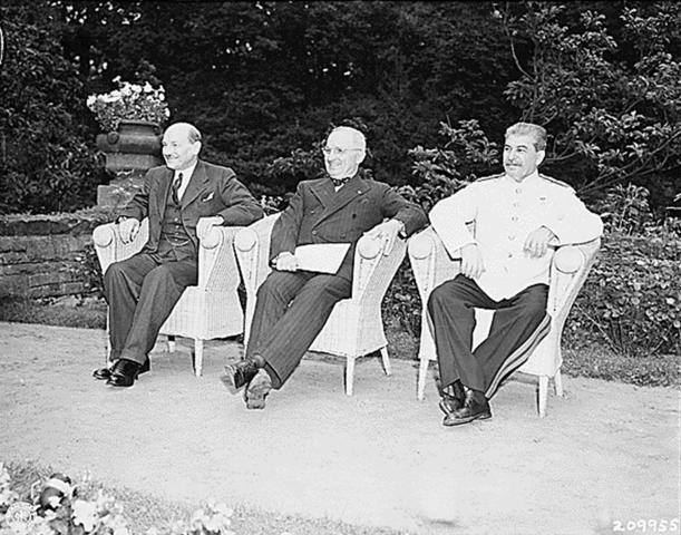 Conférence de Potsdam le 17 juillet 1945