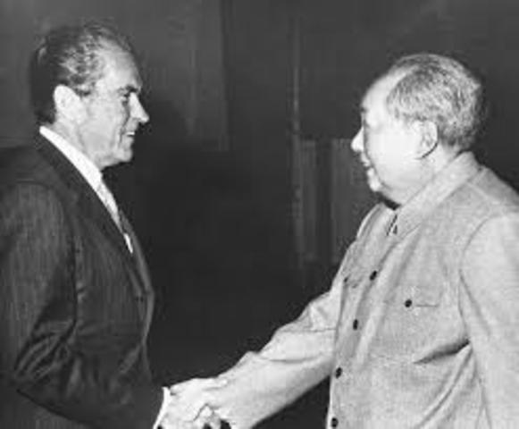 Kina får besøk av USAs president Richard Nixon