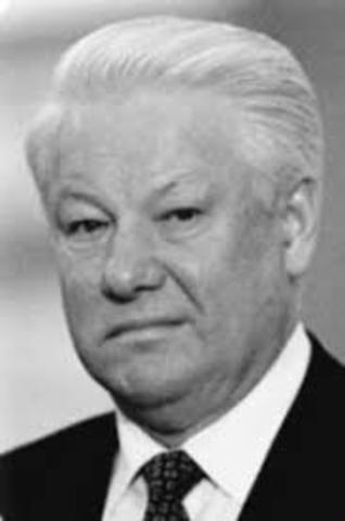 Boris Jeltsin ble president i et selvstendig Russland
