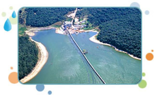 Obras de reversão do braço Taquacetuba para a represa Guarapiranga