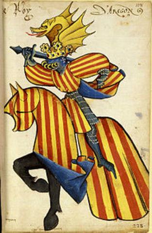 Unión dinástica del reino de Aragón y el condado de Barcelona.
