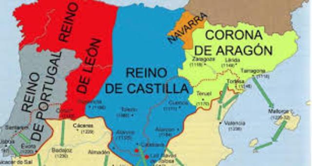Unión dinástica del reino de Aragón y el condado de Barelona.