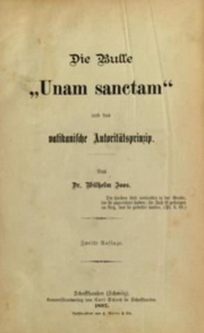 UNAM SANCTAM. Bonifacio VIII.