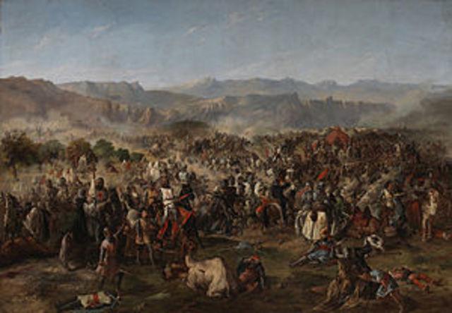 Batalla de kas Navas de Tolosa (Inicio conquista valle del Guadalquivir).