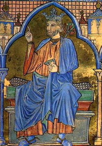 Unión de los Reinos de Castilla y León en la figura de Fernando III.