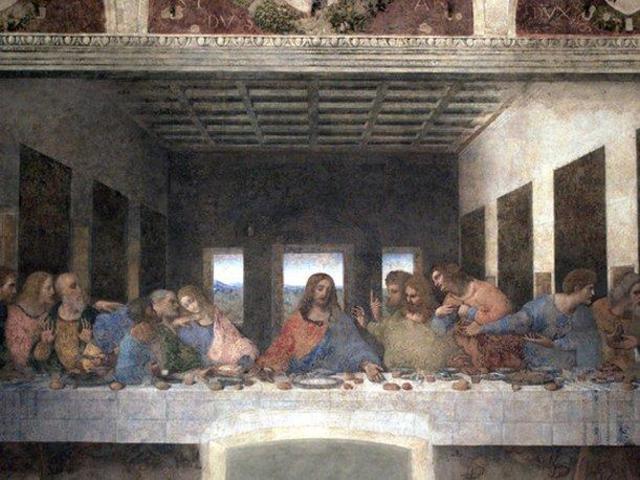 """""""La última cena"""", de Leonardo da Vinci"""