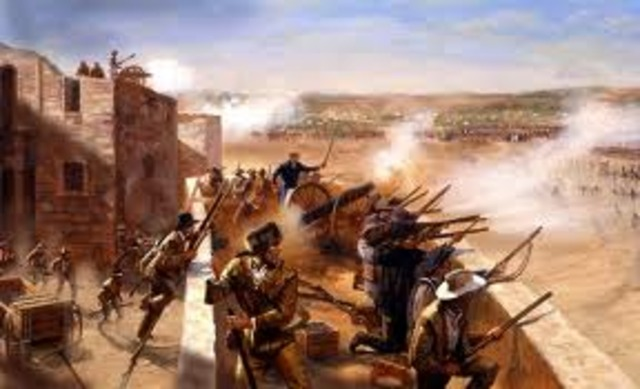 Santa Anna's troops surrounded San Antonio