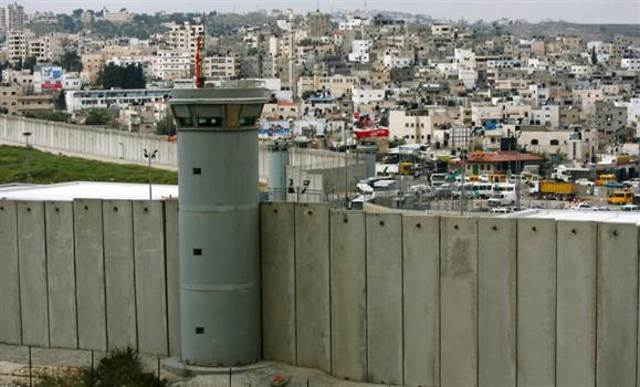The separation wall is built