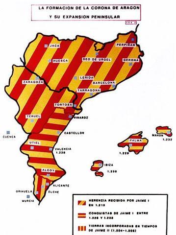 1137. Unión didáctica del reino de Aragón y el condado de Barcelona.