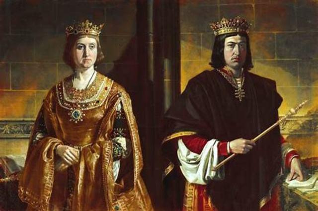 1469. Matrimonio de los Reyes Católicos.