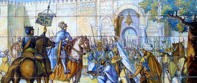 Conquista de Toledo por Alfonso VI (frontera en el río Tajo)